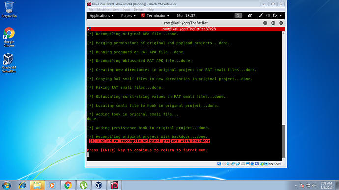 FatRat Kali Linux - Hacking - Cyber Security Discourse
